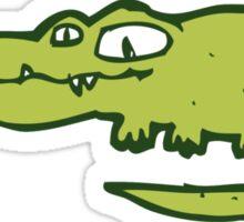 Funny cartoon crocodile Sticker