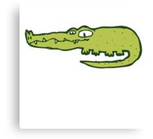 Funny cartoon crocodile Canvas Print