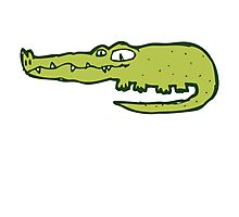 Funny cartoon crocodile Photographic Print