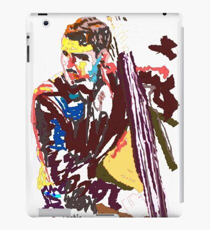 Jazz Bass player iPad Case/Skin