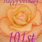 Happy 101st Birthday Flower by martinspixs