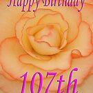 Happy 107th Birthday Flower by martinspixs
