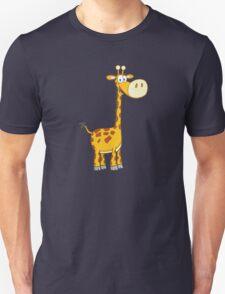 Cute cartoon giraffe smiling Unisex T-Shirt