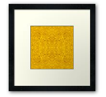 Symmetrical Liquid Gold Framed Print