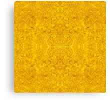 Symmetrical Liquid Gold Canvas Print