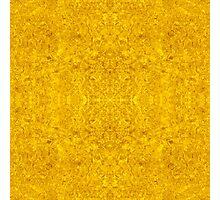 Symmetrical Liquid Gold Photographic Print