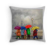 """Artwork 1419 """"Summer Sightseeing, Westminster"""" Throw Pillow"""