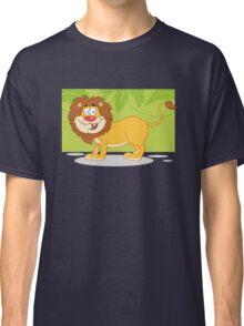 Happy cute cartoon lion Classic T-Shirt