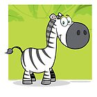Funny cute cartoon zebra by berlinrob