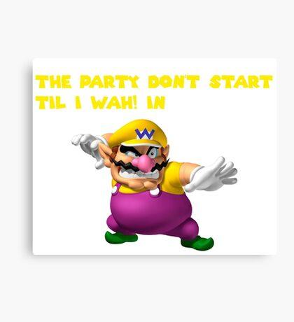 Wario Party Canvas Print