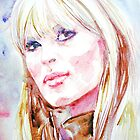NICO(VELVET UNDERGROUND) watercolor portrait by lautir
