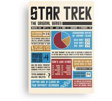 Star Trek Infographic Metal Print