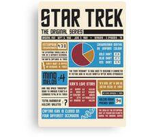 Star Trek Infographic Canvas Print
