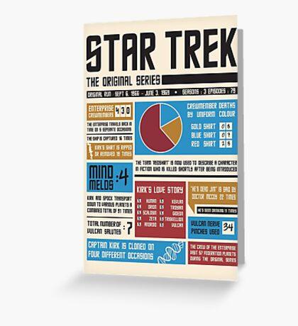 Star Trek Infographic Greeting Card