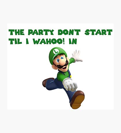 Luigi Party Photographic Print