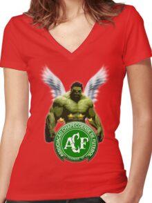 Chapecoense Angels Brazil Women's Fitted V-Neck T-Shirt