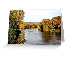 Autumn on the Wye Greeting Card