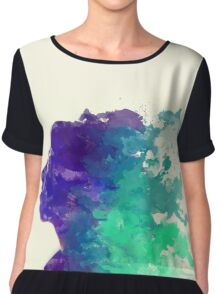 Watercolour Woman Chiffon Top