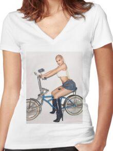 Kylie Jenner Bike Women's Fitted V-Neck T-Shirt