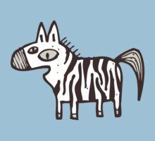 Cute striped cartoon zebra Kids Clothes