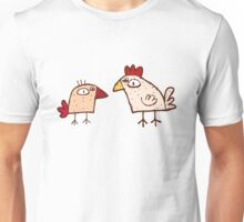 Funny cartoon chicken Unisex T-Shirt
