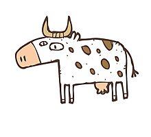 Cute cartoon cow Photographic Print