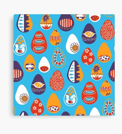 funny easter eggs Canvas Print