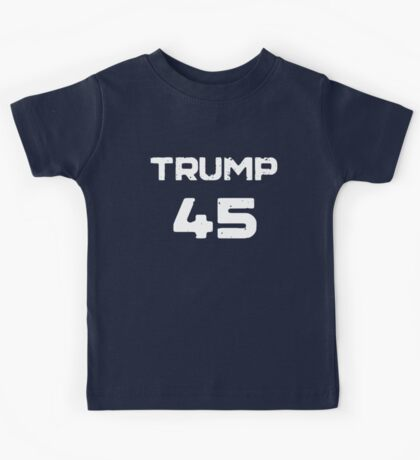 Donald Trump 45th President Distressed  Kids Tee