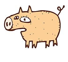 Funny cartoon pig by berlinrob