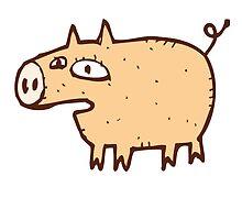 Funny cartoon pig by berlinrob