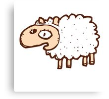 Cute little cartoon sheep Canvas Print