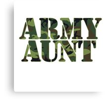Army AUNT Canvas Print