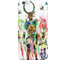 THREE HORNED DEMON WITH TEA TRAY,TWO GIRLS,NINE  iPhone Case/Skin