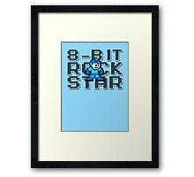 Megaman - 8-Bit Rockstar Framed Print