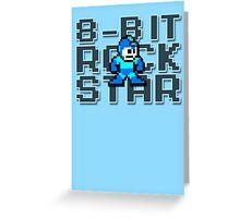 Megaman - 8-Bit Rockstar Greeting Card