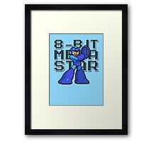 Megaman - 8-Bit Megastar (Alternate) Framed Print
