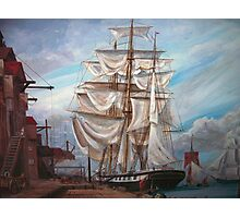 Drying Sails in Dock Photographic Print