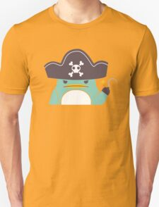 Grumpy cartoon pirate penguin Unisex T-Shirt