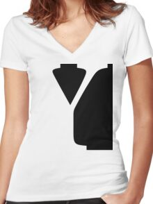 Y Women's Fitted V-Neck T-Shirt