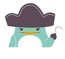 Happy funny cartoon penguin pirate by berlinrob