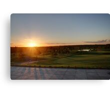Autumn Sunset over a Golf Course Canvas Print