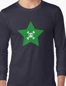 Skull and bones in a star Long Sleeve T-Shirt