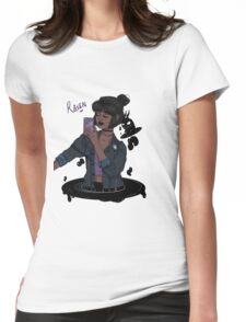Teen Titans Raven  Womens Fitted T-Shirt