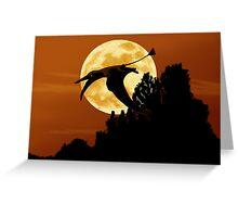 Rhamphorhynchus Moon Greeting Card