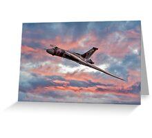 Avro Vulcan at Dawn Greeting Card