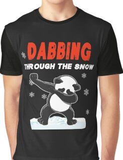 Panda DABBING THROUGH THE SNOW T-SHIRT Graphic T-Shirt