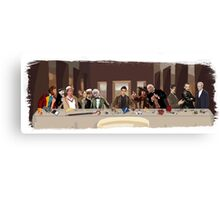 The last supper of the Doctor Canvas Print
