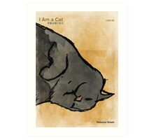 Natsume Sōseki - I Am a Cat Art Print