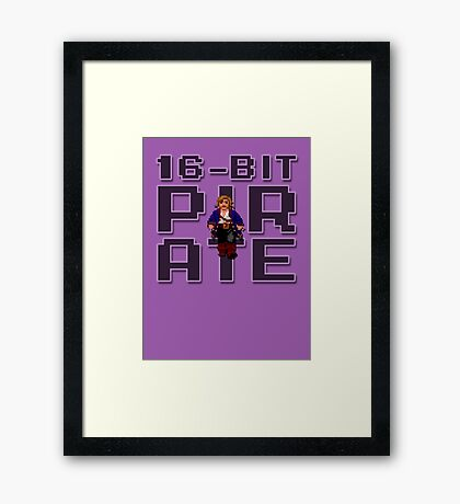 Guybrush - 16-Bit Pirate Framed Print
