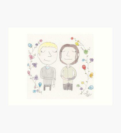 Steve and Bucky Art Print